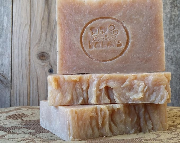 Porter Hand Soap (Porter Beer) --  All Natural Soap, Handmade Soap, Unscented Soap, Sustainable Organic Palm, Beer Soap, Man-Friendly