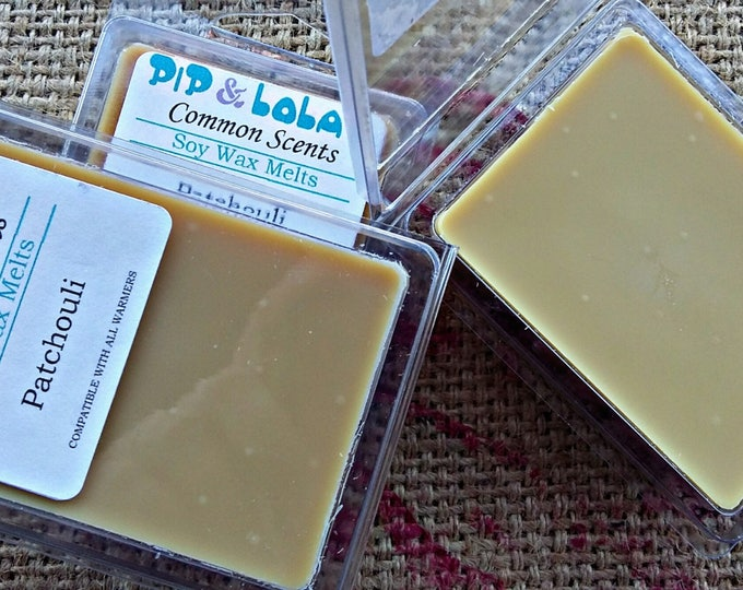 Patchouli Wax Melt - Pip & Lola's Common Scents - Soy Candle Wax, Wax Tarts, Wax Melt, Soy Wax, Clamshell Melts, Candle melt, Wax warmer