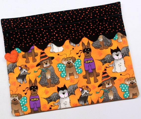 Dogs in Costume Cross Stitch Embroidery Project Bag