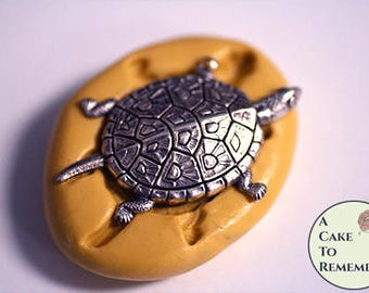 "Little 1.5"" turtle silicone mini mold for cake pops or little cupcake toppers. Also great for resin or polymer clay jewelry making M5232"