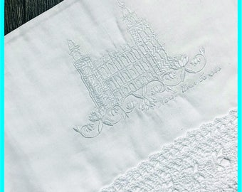 Manti Utah Temple - Lace Edge