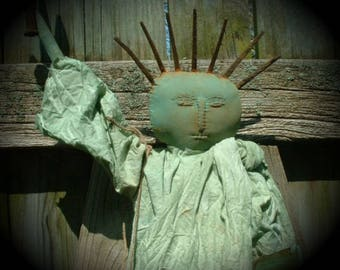 SPECIAL LISTING for JESSICA Extreme Primitive Statue of Liberty Doll