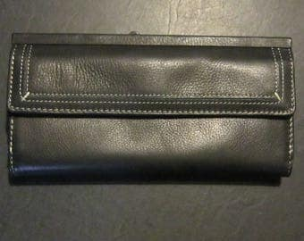 unused rolfs leather wallet black leather gorgeous