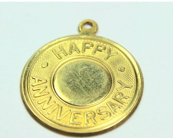 MASSIVE CLEARANCE Nice Vintage 1960s Gold Filled Anniversary Pendant