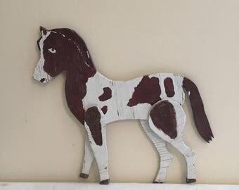 ON SALE Horse Wood Horse Primitive Horse