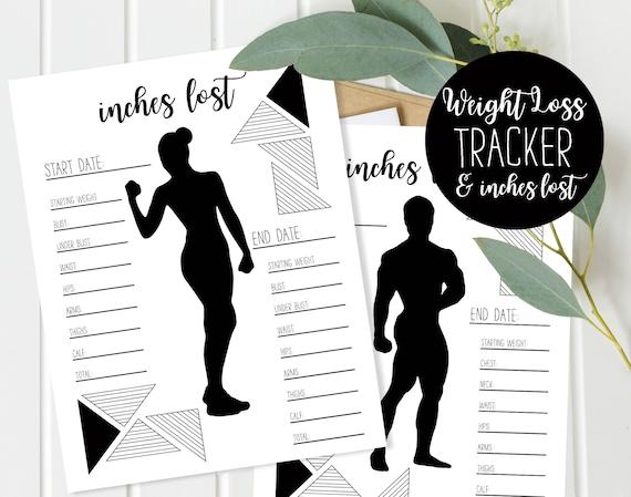 Weight Loss Chart Measurement Tracker Weight Loss Journal