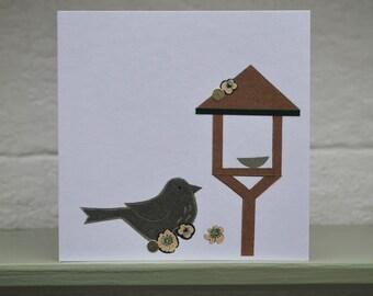 Song thrush & Bird table card