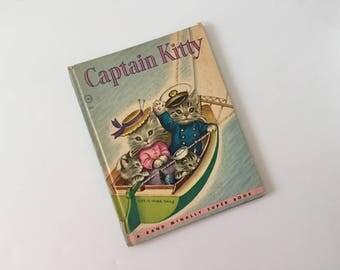 Captain Kitty, Vintage 1950's Childrens Book, Godfrey Lynn, Great Illustrations by Elizabeth Webbe