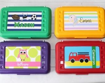 Personalized Pencil Box - School Supply Box - Crayon Box - Art Box - School Supplies - Monogrammed - Personalized Box - Back to School