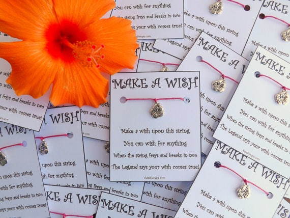 10 - 20 Hawaiian Themed Birthday Party Wish Bracelets Bulk Wholesale Resale Options Stocking Stuffer Favor Offer