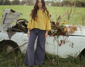 Lorenza blouse in Goldenrod