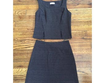 Adorable 90's Plaid Skirk and Tank Set