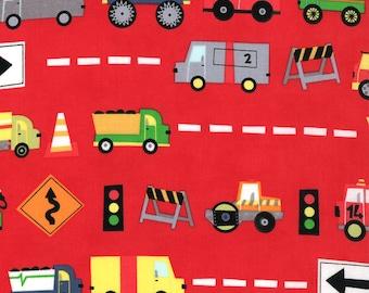 Jenn Ski Fabric, Red Trucks, Ten Little Things by Jenn Ski for Moda, 30501-11