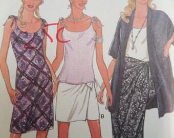 SARONG WRAP SKIRT Pattern • Style 2632 • Miss 6-16 • Shoulder Tie Dress • Kimono Jacket • Sewing Pattern • Vintage Pattern • WhiletheCatNaps