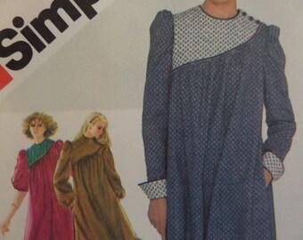ASYMMETRIC DRESS Pattern • Simplicity 5721 • Miss 12 • Shoulder Button • Ruffled Dress • Sewing Pattern • Vintage Patterns • WhiletheCatNaps