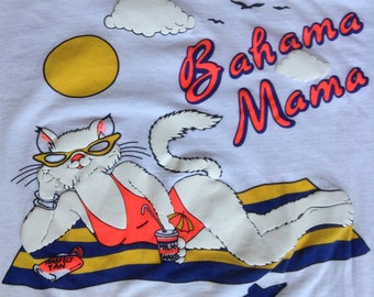 1980's Bahama Mama cat t shirt