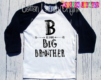Big Brother Shirt, Brother, boho Big brother Tee Baby Announcement,New Baby Announcement BrotherSibling Shirt Little Brother Announcement