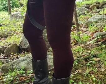 Men's Bordeaux Paisley Velvet Leggings - Choose your size