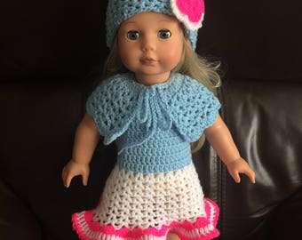 Crochet dress set for 18 inch American Girl ~ Designer friend ~ Gotz doll