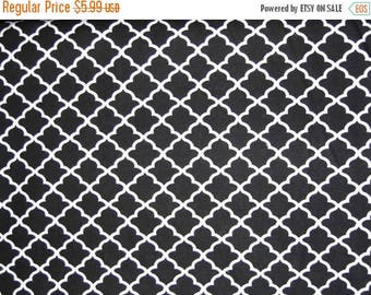 On SALE 25% OFF Scallop Fabric - Black and White Fabric - Quilting Fabric - Cotton Fabric - Minimalist Fabric - Country Fabric - Black Fabri
