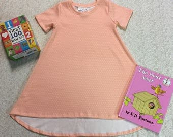 Organic Peach Dots Custom Dress Summer Collection LIMITED