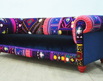 Bohemian Sofa - blue shade
