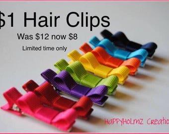 Hair clips, Infant hair clips, Toddler hair clips, No slip baby hair clips, Baby hair clips, 8 hair clips, Baby barrettes, Hair clip set