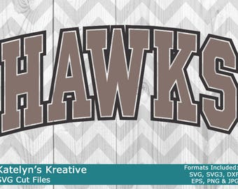 Hawks Arched SVG Files