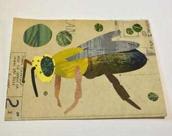 Original Large Art-Card Honey Bee (envelope included)