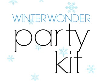 Winter Wonderland Birthday Party Kit!  Frozen themed Party in a Box! Winter party supplies