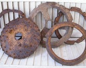 Rusty Old Cast Iron Farm Implement Salvage Parts