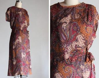 Vintage Paisley Desire Dress