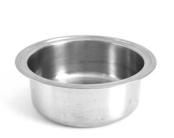 "SALE Stainless Double Boiler Insert for Vintage Pots Pans / Cookware, Fits 7 5/8"" to 7 3/4"" Lid"