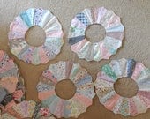 Dresden Plate Quilt Blocks , lot of 20. ready to add to your quilt, all vintage fabrics
