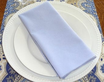 FALL is COMING SALE Sale Light Pale Lavender Napkin Table Decor Dining Room Size 16x16 17x17 Napkins