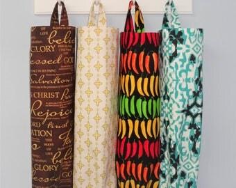 Plastic Bag Holder Grocery Bag Storage Kitchen Bag Storage Hot Peppers Faith Christian Diamond Black & Teal