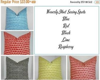 SPRING FORWARD SALE Decorative Pillow Throw Pillow Waverly Jazzberry Blue Noir Ikat Accent Pillow 5 Colors Choose Size