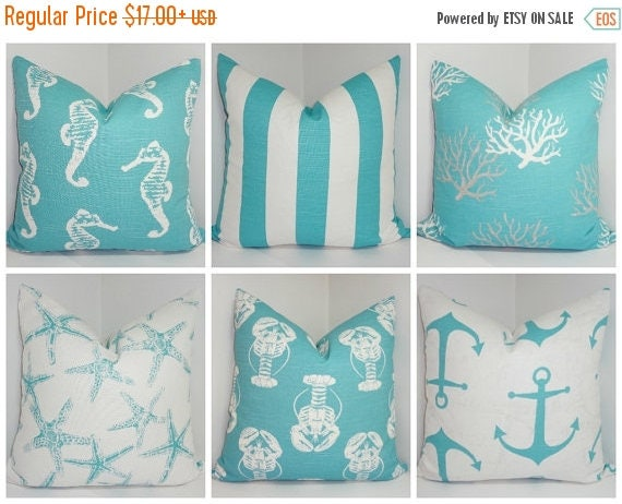 fall sale sale nautical decorative pillow cover starfish. Black Bedroom Furniture Sets. Home Design Ideas