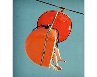 mid century art // pop color print // orange art // modern photography  art - SkyGlider I, large print