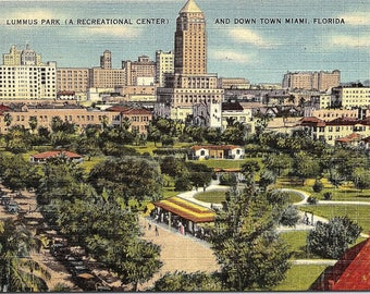 Miami, Florida, Lummus Park, Downtown - Vintage Postcard - Postcard - Unused (FF)