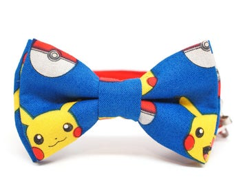 POKEMON - comic book, chractor bow tie - pre-tied bowtie for all ages