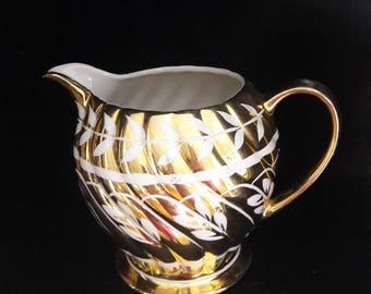 Gold English Lustreware Milk Jug