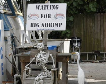 12% OFF Shrimper Wall Art, Free Shipping, Shrimping Artwork, Shrimp Boat Photo, West Austin Signed Photograph, Waiting for Big Shrimp