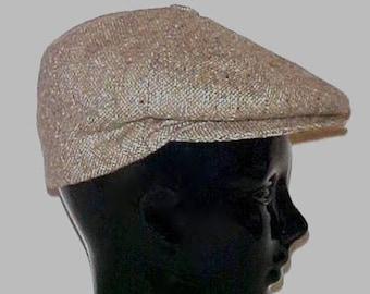 Vintage 80's Newsboy Cap, Barbour Tweed, Cabbie Flat Golf Hat, Size 7