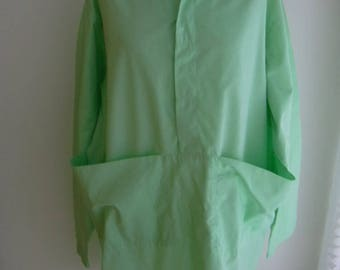 Mint Green Japanese Inspired Oversize Huge Pockets Blouse L-XL