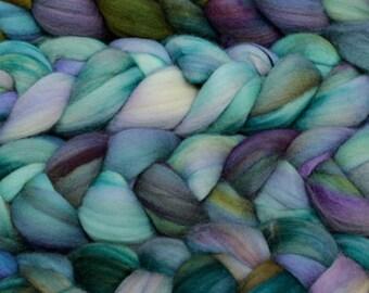 Hand Dyed Roving Merino Wool Tops Spinning Fiber Felting Wool Hand Painted 113g Fleece Peacock Sea Mermaid Blue Purple Green Malabrigo