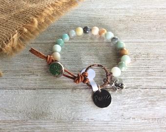 Beaded Amazonite Bracelet