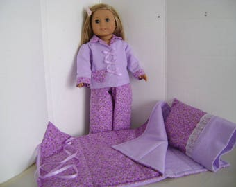 """Handmade Sleepover  fit """"Isabelle"""", A.G. Doll and all 18"""" Dolls"""