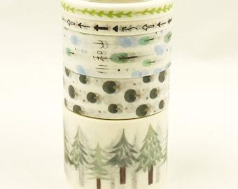 Fargo - Japanese Washi Masking Tape Box Set - 5 rolls - 3.3 Yard (each roll)