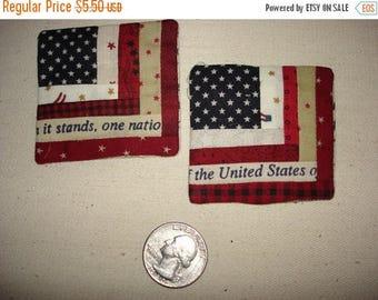 12% off thru July Miniature log cabin USA Flag pin Patriotic